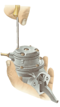 Servicing a mechanical fuel pump