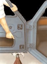 Renewing hinge pins and hinges