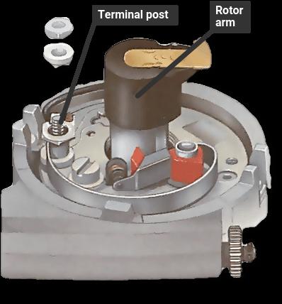 Internally fitted condenser