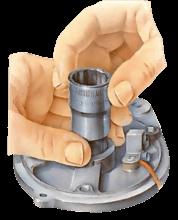 Replacing starter or dynamo bearings