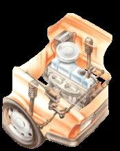 Checking steering-box mountings