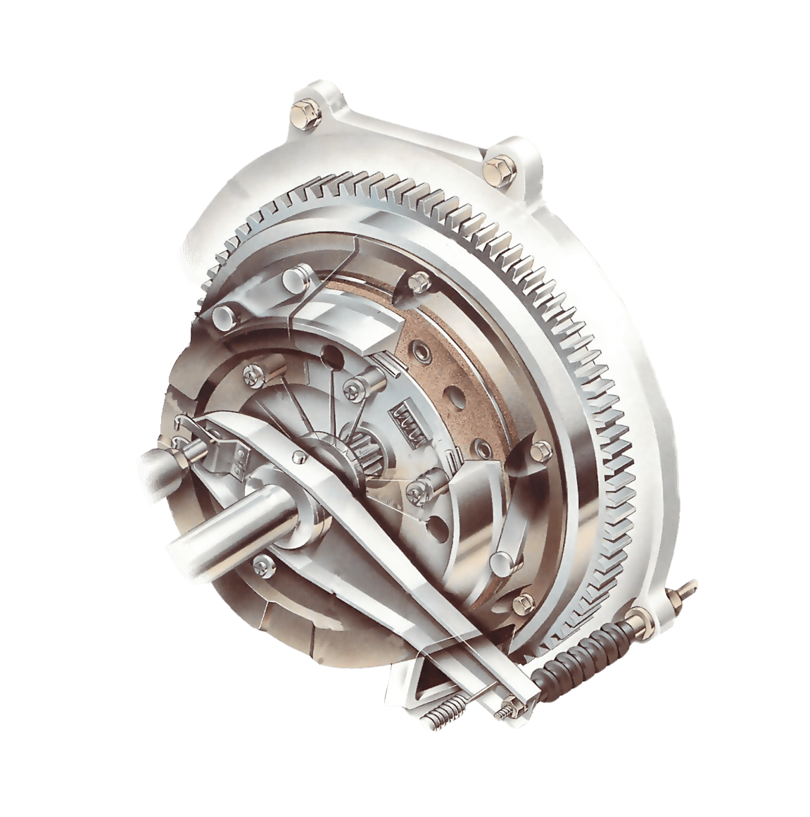 How A Car Clutch Works Speed Transmission It Diagram Cut Away Gears