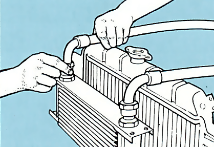 5. Fit hoses to cooler