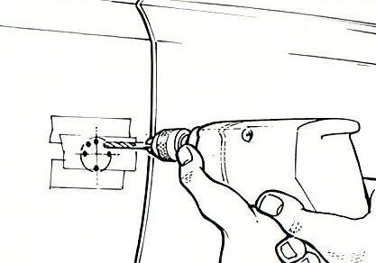 2. Cut door panel