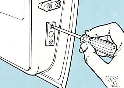 5. Cut door hole