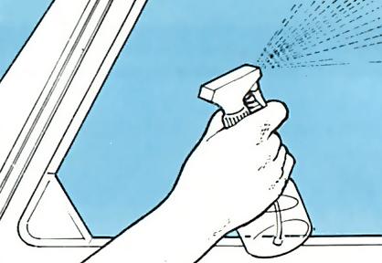 2. Clean the windows