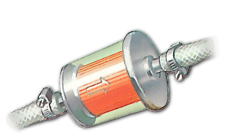 An inline fuel filter