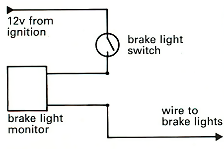 Simple Brake Warning Light Circuit