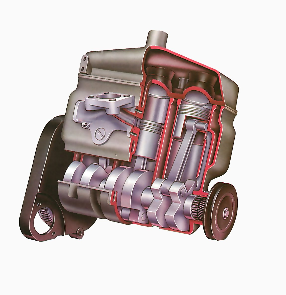 How a two-stroke engine works