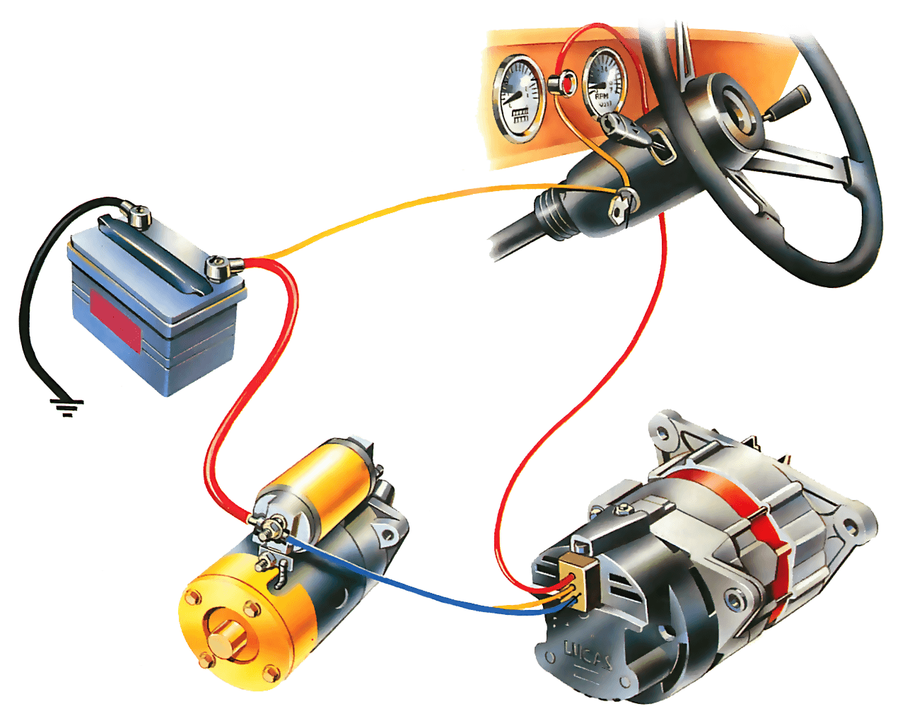 diagram of a 3 wired car alternator   35 wiring diagram