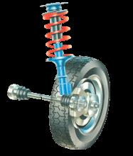 Driven wheel hubs