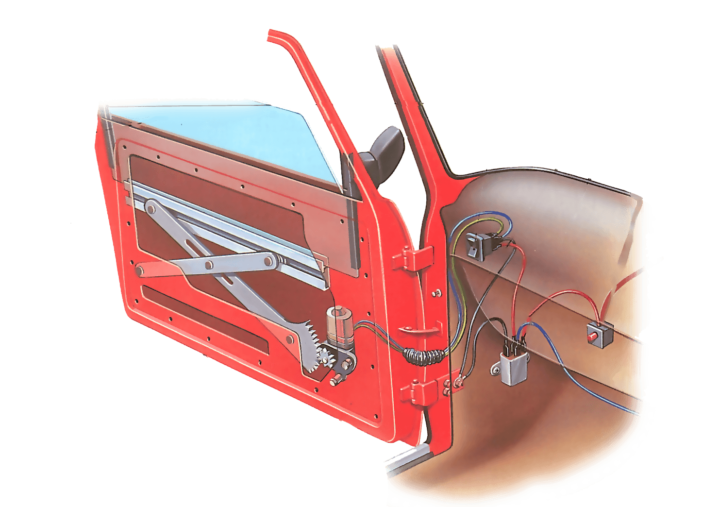Repairing An Electric Window How A Car Works Ignition Starter Switch Wiring Diagram Autos Weblog
