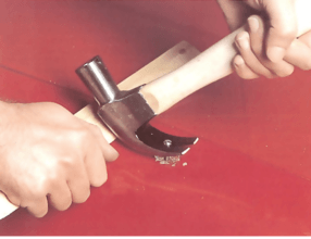 Smoothing out a dent