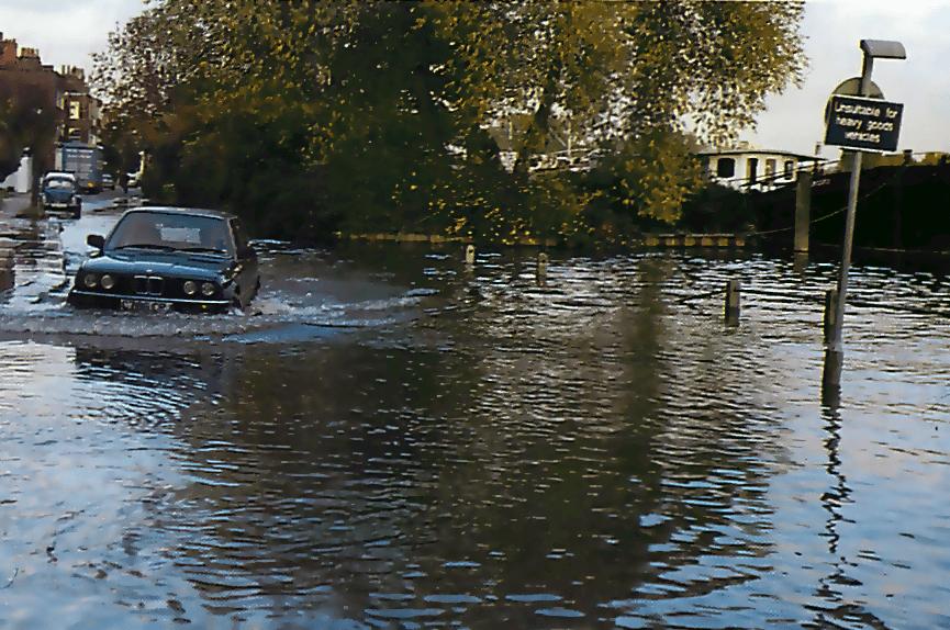 Driving through deep water