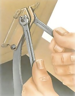 Adjusting catches and hinges