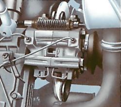 Adjusting the handbrake