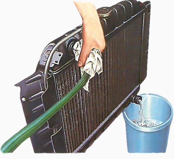 How to flush an engine radiator