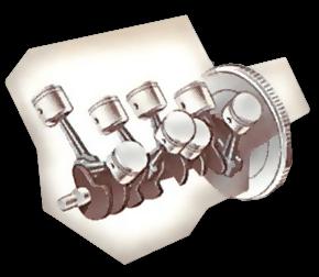 V-8 engine