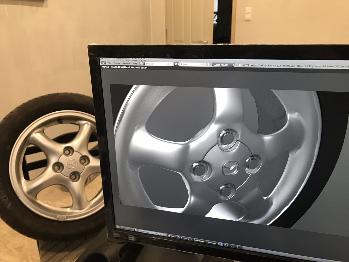 Video modeling car wheel w1400