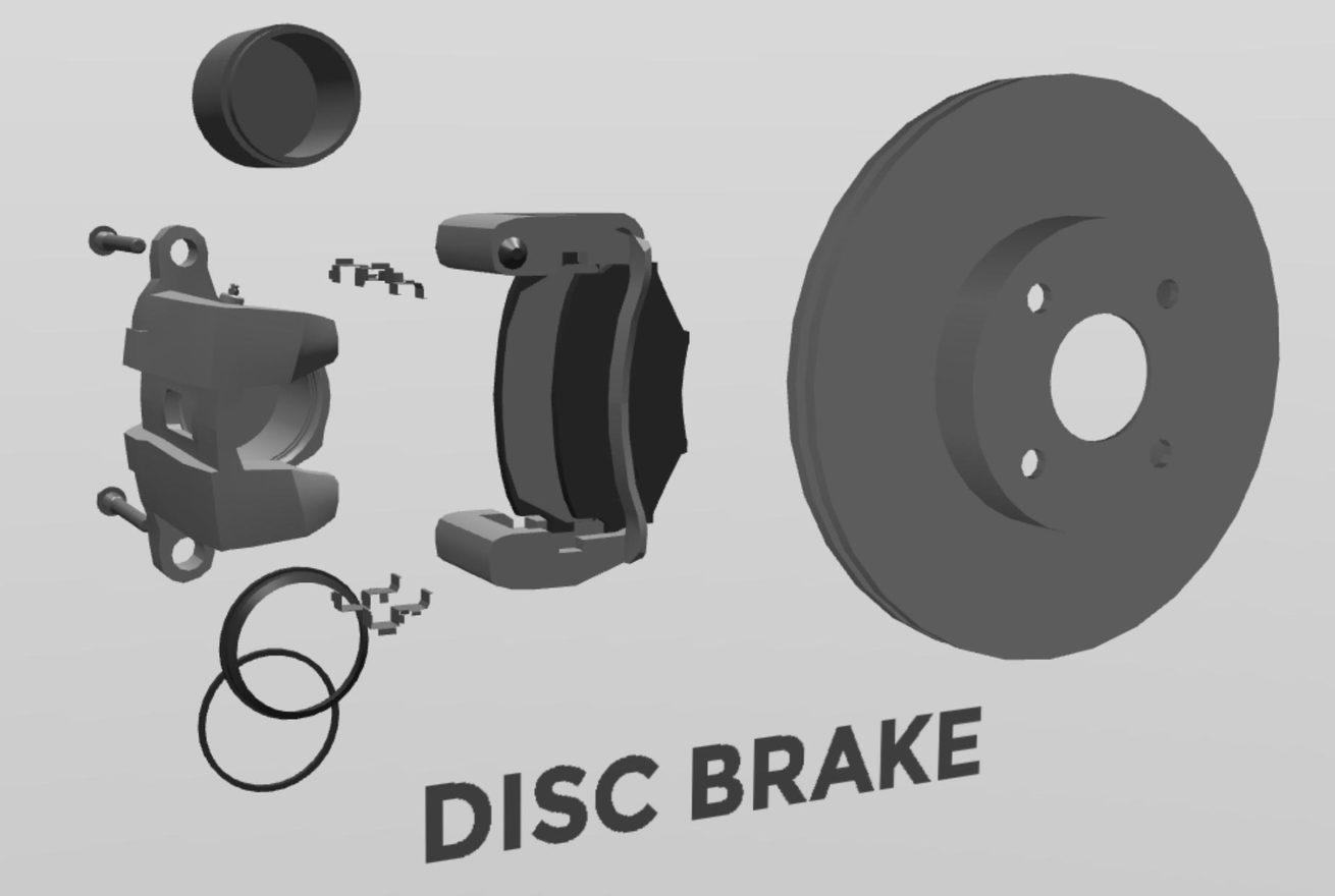 Disc brake 3d w1400