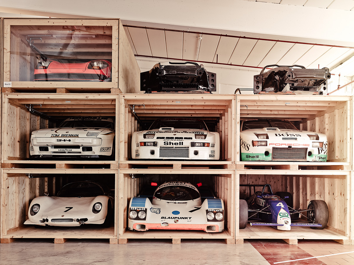 porsches-stored-on-pallets