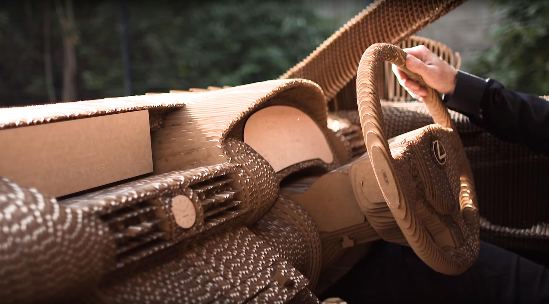 cardboard-car-interior