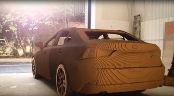 Lexus builds cardboard car