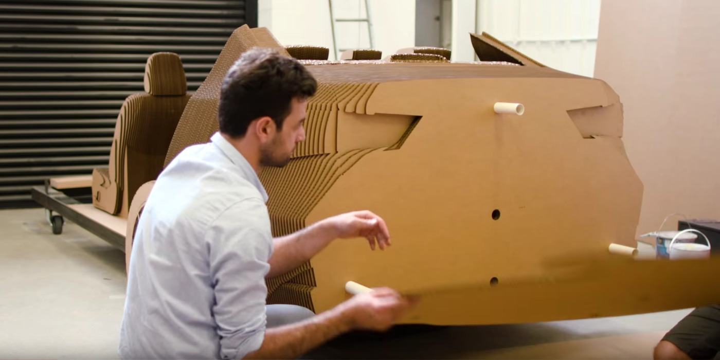 Lexus Builds Cardboard Car