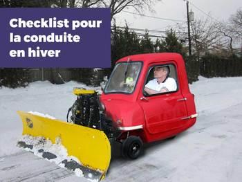 La checklist 2015 pour la conduite en hiver