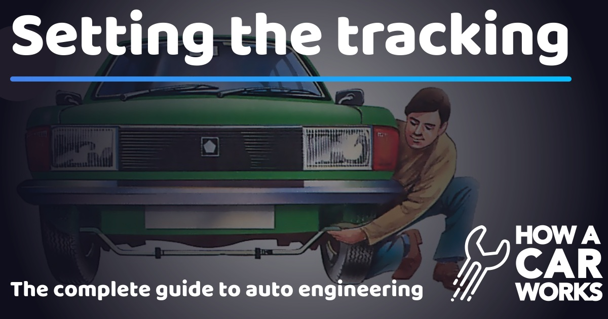 how to set tracking on a car