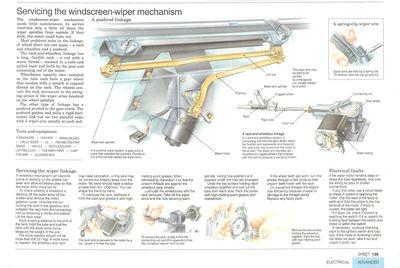 Mantenimiento del mecanismo del limpiaparabrisas