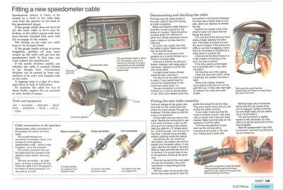 Colocación de un cable nuevo en el velocímetro