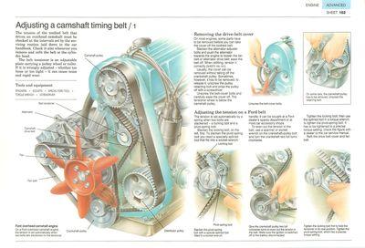 Adjusting a camshaft timing belt