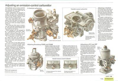 Adjusting an emission-control carburettor
