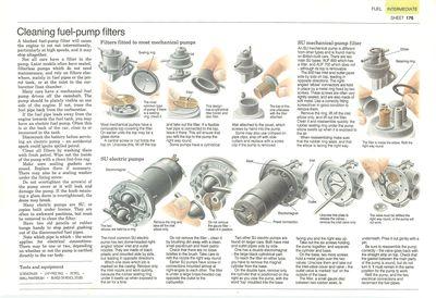 Limpieza de los filtros de la bomba de combustible