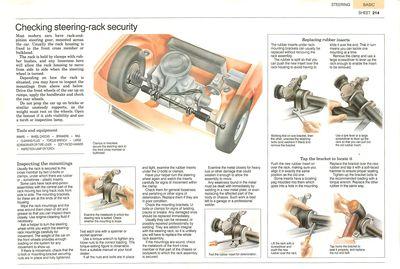 Checking steering-rack security