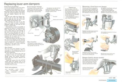 Replacing lever-arm dampers