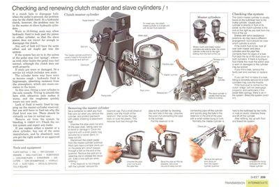 Comprobación y eliminación del cilindro maestro del embrague