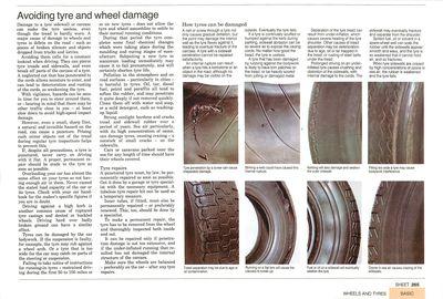 Avoiding tyre and wheel damage