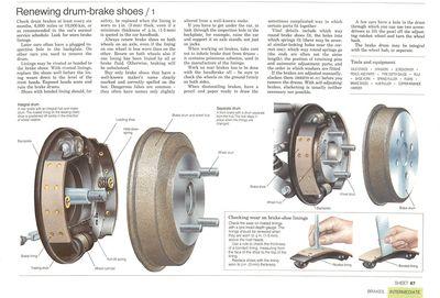 Renewing drum-brake shoes