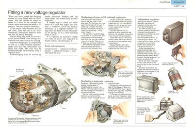 Instalación de un nuevo regulador de voltaje