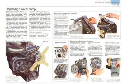 Replacing a water pump