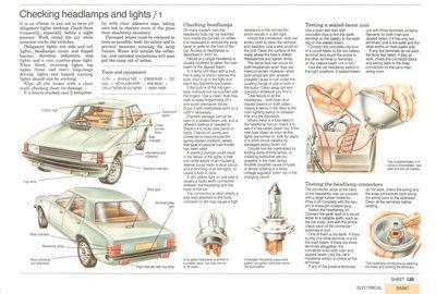 Checking headlamps and lights