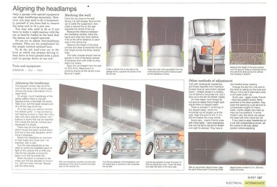 How to align headlights at home