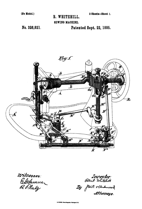 Sewing machine thumb